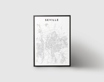 Seville Map Print