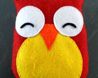 large format color on request 1 stuffed OWL handmade in felt