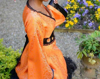 Dress / orange kimono robe