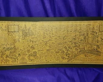 The World of Harry Potter Map mounted Poster