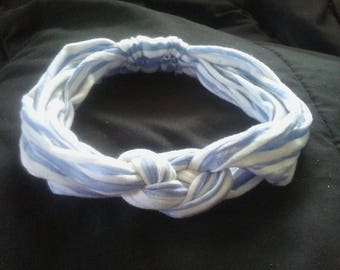 Adult headband made from upcycled tee shirt