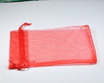 EM026 - Set of 10 Red organza bags