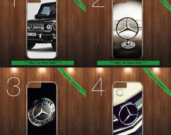 Mercedes Benz Inspired Logo Fits iPhone & Samsung Leather Flip Case Cover Active