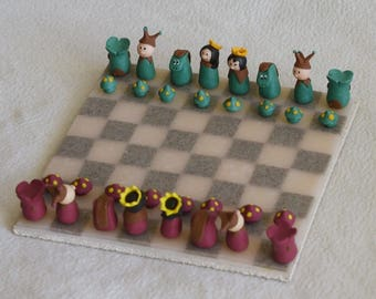 Game of chess with polymer clay! Chess game
