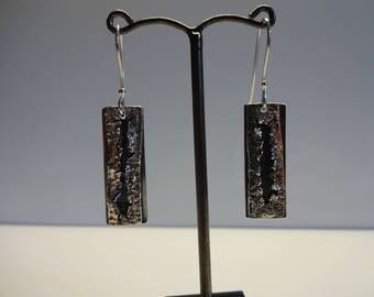 Silver fissure earrings