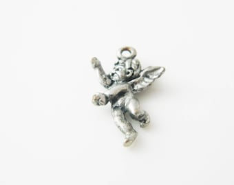 1 x 22mm (l373) Angel silver plated charm
