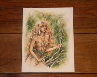 Illustration of a Dryad in the forest
