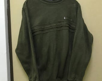 Rare!!! Hush Puppies Sweatshirt small logo pullover sweater embroidered