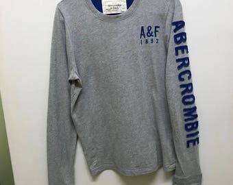 Rare!!! Abercrombie Pullover Spellout Embroidered