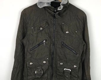 Rare!!! Vintage!!! In The Attic Jacket / Hoodie Pockets Full Zipper