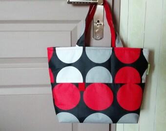 Cotton handbag coated.