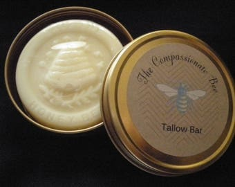 Tallow bar with travel tin