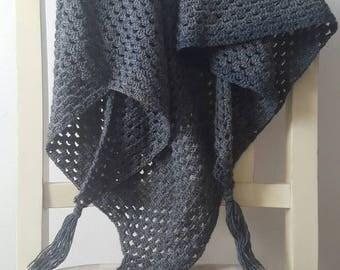 Wool scarf grey