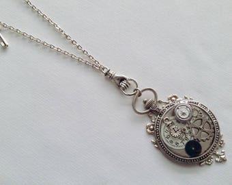 Steampunk mechanical hand pendant necklace