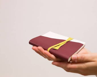 Burgundy - MONOCHROME leather notebook
