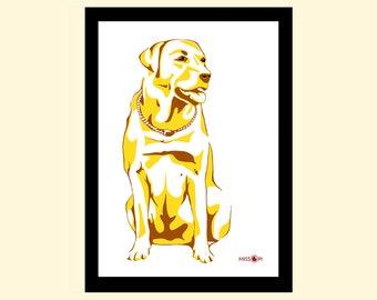 Birthday, gift, custom pet portrait, digital print, animal, pet art, dog, cat, dog art print, artwork, digital art, birthday gift