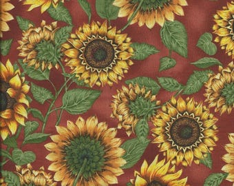 Coupon patch fabric big flowers sunflower