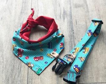 Truck dog bandana, custom bandana, dog bandana