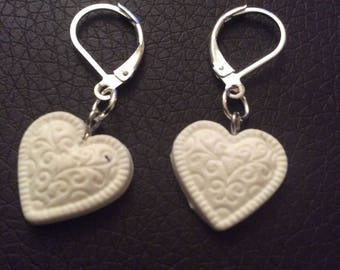 Earrings baroque heart for various occasions!