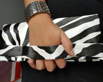 Elegant handmade zebree pouch