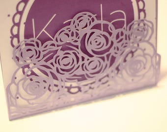 On the invitation die digitally. studio3 scalable Silhouette Cameo plotter cutting