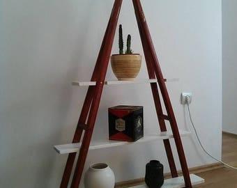 Shelf made from crutches, Shelf, Bedroom shelf, Office furniture, Bedroom furniture, Living room furniture, Furniture, Recycled Furniture