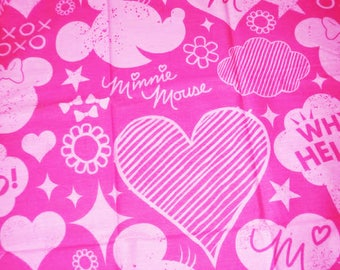"Pink cotton fabric for children ""MINNIE"""