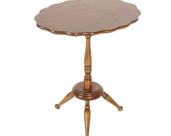 Vintage Folding Top Side Table