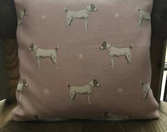 Pretty Pink Icing Jack & Stars Cushion