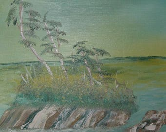 Oil Painting No: 002- Rock Island