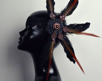 Bronze toned festival headdress