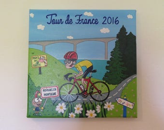 picture(Board) 30 x 30 Tour de France mountain Moirans 2016