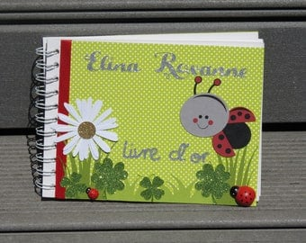 For baptism guest book - theme: ladybugs