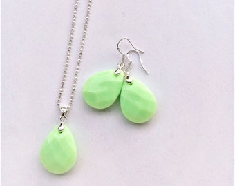 drop set lime green (925 silver plated)