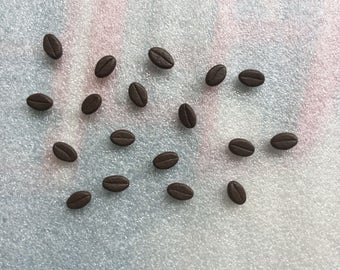 Polymer clay coffee bean beads