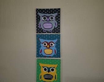 Whimsical owl set