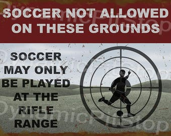 40x30cm Soccer Not Allowed Rustic Tin Sign