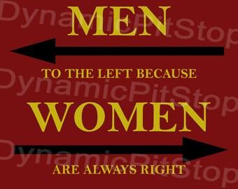 40x30cm Women Always Right Tin Sign