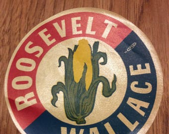 Roosevelt Wallace campaign sticker