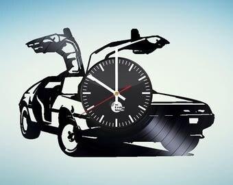 Back to the Future Car Vinyl Record Wall Clock