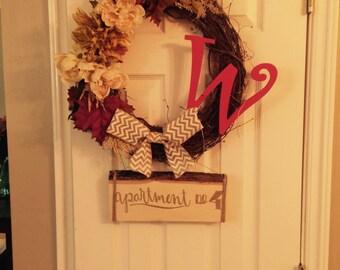 Fall wreath for door