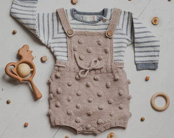 Knit Baby romper Baby romper knitted Hand Knitted Baby Romper Baby girl clothes Baby boy romper Baby jumpsuit