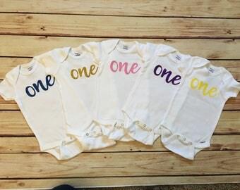 One Birthday Onesie/1st Birthday Onesie/First Birthday Onesie/Turning 1/Birthday Bodysuit/Turning One/Birthday Outfit