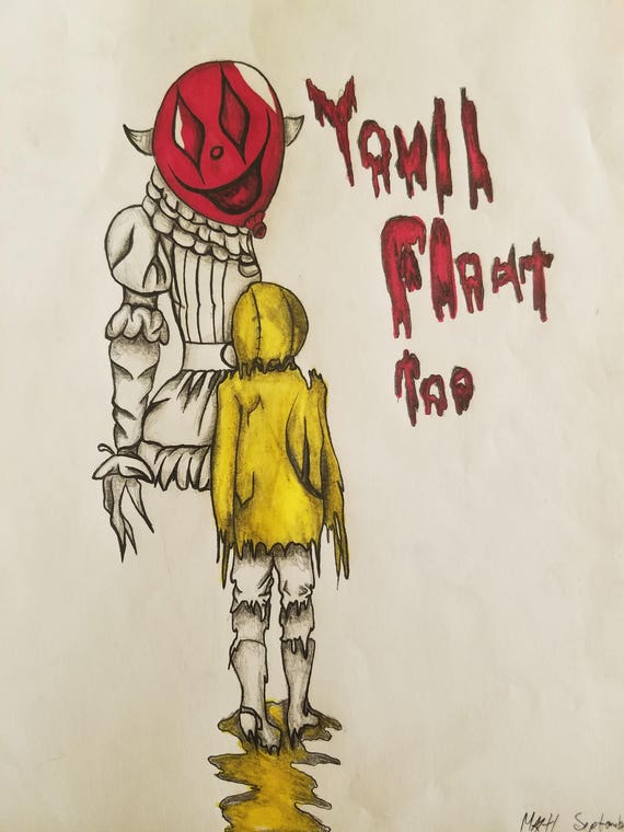 IT & Georgie You'll Float Too Drawing