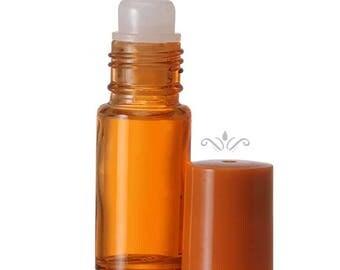 12 Orange Glass Roll On Bottles - 5 ML