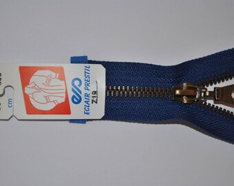 70cm separable Z19 bright blue zipper bugatti 550 mesh metal