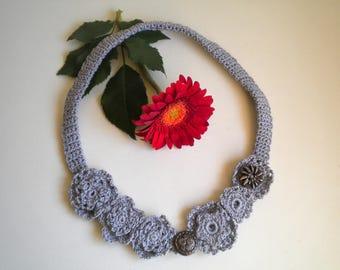 Necklace, necklace, crochet, handmade crochet necklas