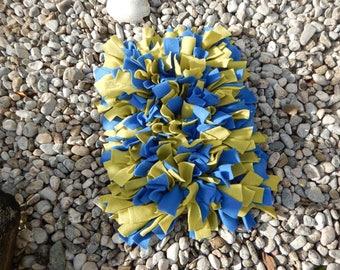 Sniffer mat, sniffer rug 40 x 50 cm, blue, green