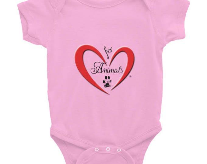 Heart of Love for Animals - Infant Bodysuit