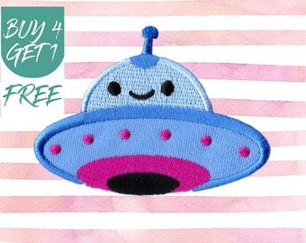Sci-Fi Patch Cute Patches Iron On Patch Embroidered Patch ET Flying Saucer